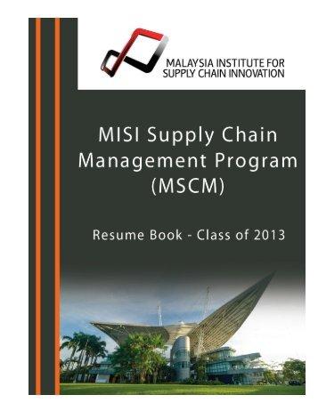 Kallaya Saengthawan (Ms.) - Malaysia Institute for Supply Chain ...