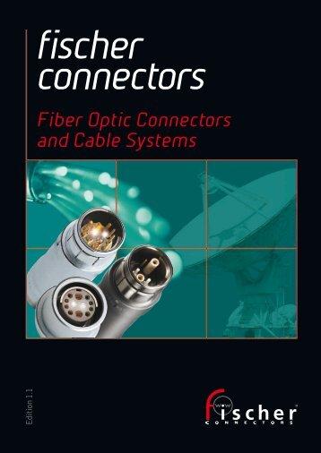 Fiber Optic Connectors Catalogue - Fischer Connectors