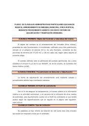 Pliego de Clausulas Administrativas Particulares