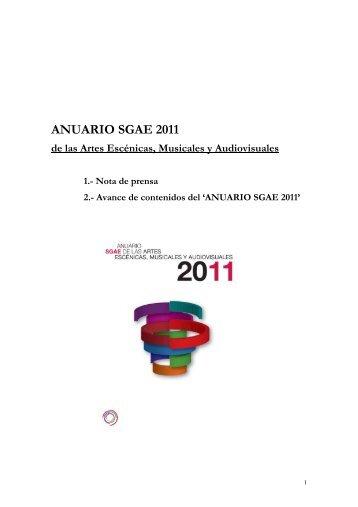 dossier de prensa - anuariossgae.com