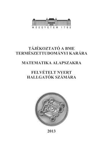 Képzési program - BME Központi Tanulmányi Hivatal - Budapesti ...