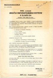BEL Ü GYMINISZT É RIUM 1 0 — 2 4 /8 /1 9 6 2 . HK: 3/1969fert. ut ...