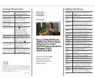 Cisco Unified IP Phone 7911 and 7906 Quick Reference for Cisco ...