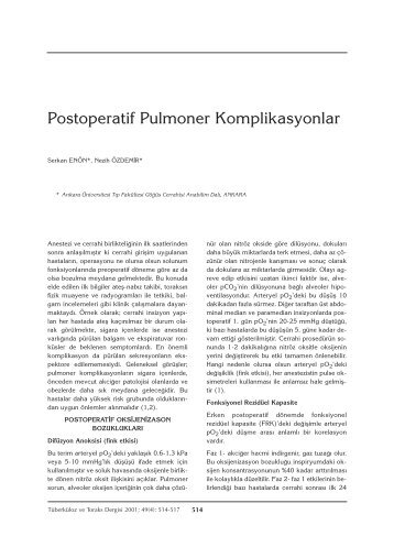 514-517 Postoperatif - Tüberküloz ve Toraks