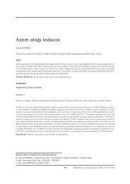 079- 93 Akut Atak Tedavisi - Tüberküloz ve Toraks