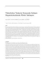 480-484T berk loz Tedavisi SÝra - Tüberküloz ve Toraks