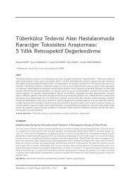 PDF - Tüberküloz ve Toraks
