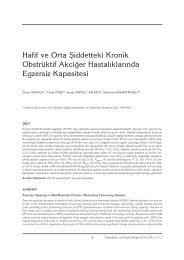 5-12 Hafif ve Orta - Tüberküloz ve Toraks