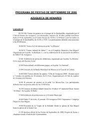 programa de fiestas - Ayuntamiento de Azuqueca de Henares