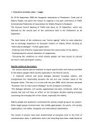 1. Executive summary (max. 1 page) On 25-26 September 2008 the ...