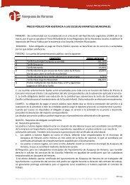 Precios públicos Escuelas Infantiles - Ayuntamiento de Azuqueca ...