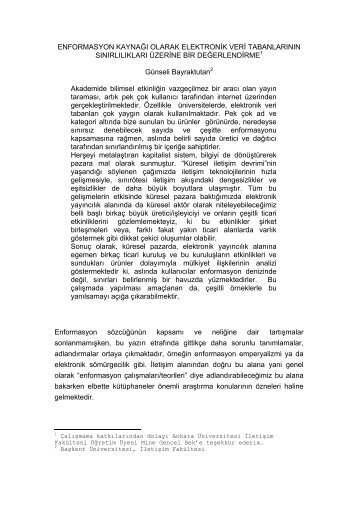 Tam Metin(URL) - ÜNAK - Veri Tabanları