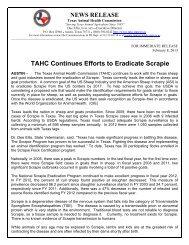 TAHC Continues Efforts to Eradicate Scrapie - Texas Animal Health ...