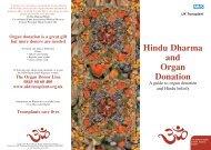 Hindu Dharma and Organ Donation