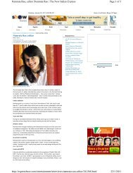 Page 1 of 3 Namrata Rao, editor  Namrata Rao   The New Indian ...