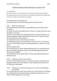 Protokoll PGR 05.11.2009 - Pfarrei Sankt Georg Bensheim
