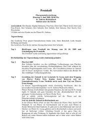 Protokoll PGR 09.06.2009 - Pfarrei Sankt Georg Bensheim