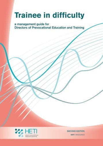 Trainee in difficulty - Health Education & Training Institute