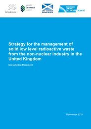 Strategy for the management of solid low-level radioactive ... - Gov.uk