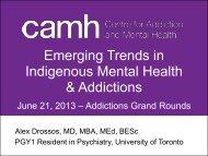 CAMH Addictions Grand Rounds - EENet
