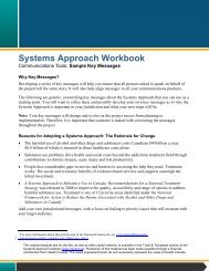Systems Approach Workbook: Communications Tools ... - EENet