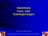 Aluminium Guss- und Knetlegierungen - Werkstoffwissenschaften