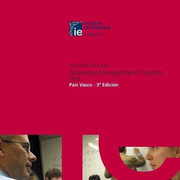Advanced Management Program - Executive Education - IE