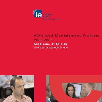 Cuatríptico AMP Andalucía 2008 - IE Executive Education