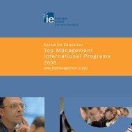 Cuatrípticos PAD 2008 - IE Executive Education