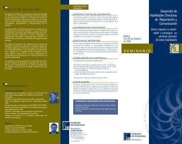 SEMINARIO Desarrollo de Habilidades Directivas de Negociación y ...