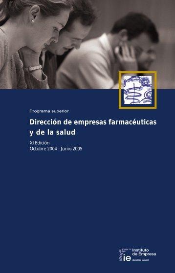 "PS Farmac""uticas 2004 - Executive Education - IE"