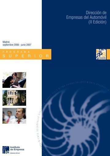 PS Automocion 2006 - IE Executive Education