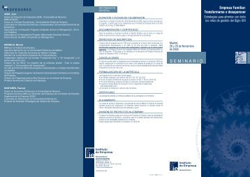 Empresa Familiar - IE Executive Education