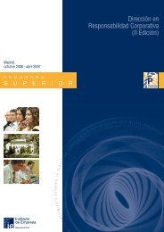 Programa Superior de Dirección en Responsabilidad Corporativa