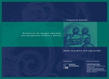 Prevención de riesgos laborales: una perspectiva jurídica y técnica
