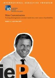 Mass Customization - IE Executive Education