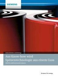 Aus Know-how wird Spitzentechnologie aus einem Guss - Siemens
