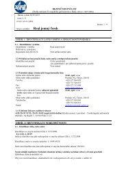 BEZPEČNOSTNÍ LIST Datum vydání: 28.05.2008 Datum revize ...