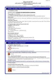 Bezpecnostni list - PEMA Velkoobchod drogerie