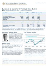 Rathbone Global Opportunities Fund - Rathbone Unit Trust ...
