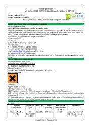 BEZPEČNOSTNÍ LIST podle Nařízení (ES) č. 1907/2006 (REACH ...