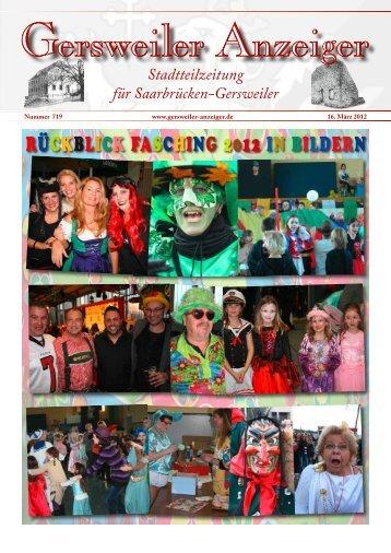 RüCKBLICK FASCHING 2012 IN BILDERN - Gersweiler Anzeiger