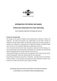 INFORMATION FÜR PRESSE UND HANDEL ... - Studiocanal