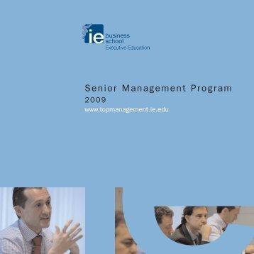 Cuatríptico SMP 2008 - Executive Education - IE