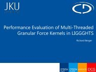 Performance Evaluation of Multi-Threaded Granular ... - Lammps