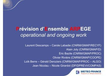 Ensemble activities at Meteo-France, Claude Fisher