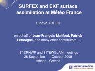 SURFEX and EKF surface assimilation at Météo ... - C-SRNWP Project