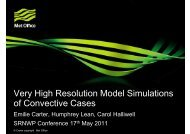 Very high resolution model simulations of ... - C-SRNWP Project
