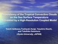 Dependency of the Tropical Convective Clouds on the Sea Surface ...