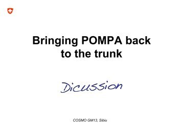 Bringing POMPA back to the trunk - Cosmo